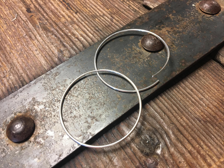 1.8 Inch Hoop Earring – Seamless Hoops – Sterling Silver (45mm)