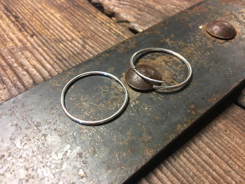 1 Inch Hoop Earring – Seamless Hoops – Sterling Silver