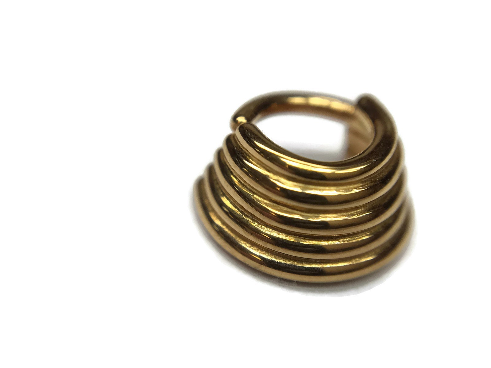 5 Stacked Tapered Septum Ring