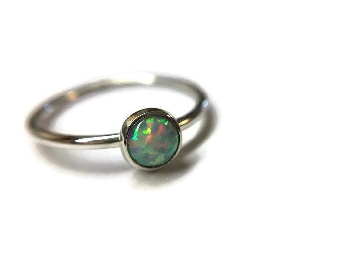 5mm Opal Bezel Ring