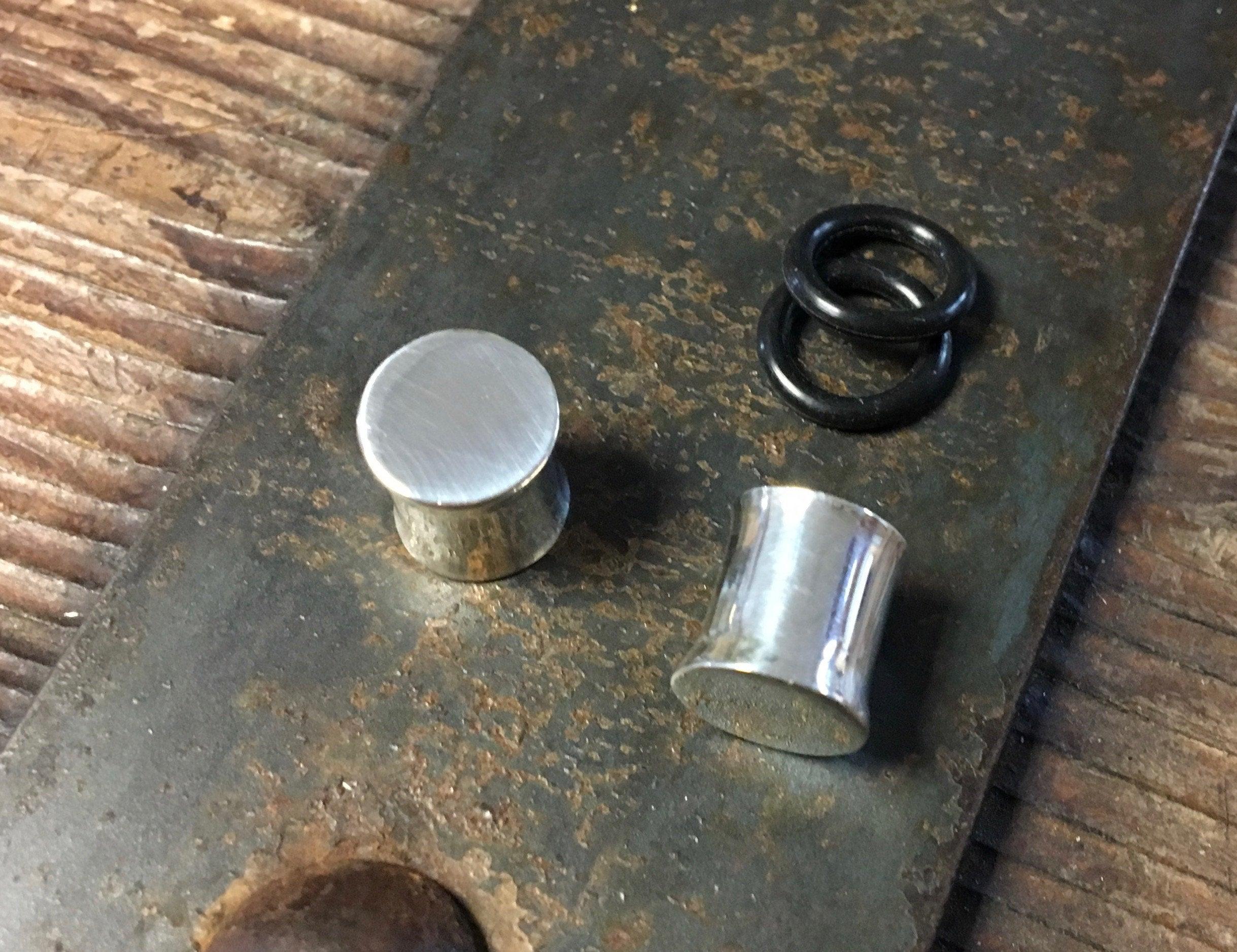 Capped Sterling Polished Gauges