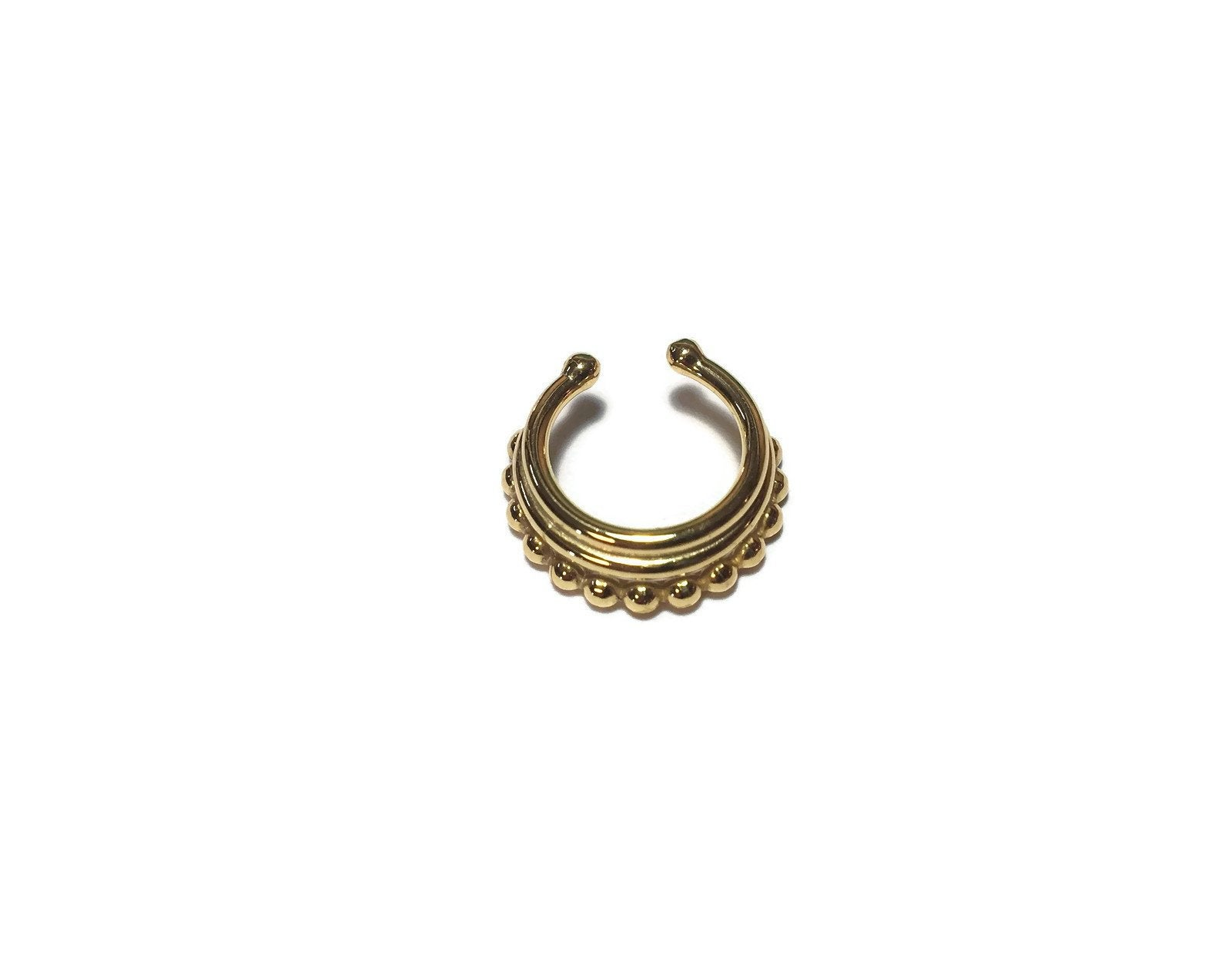 Faux Stacked Septum Ring