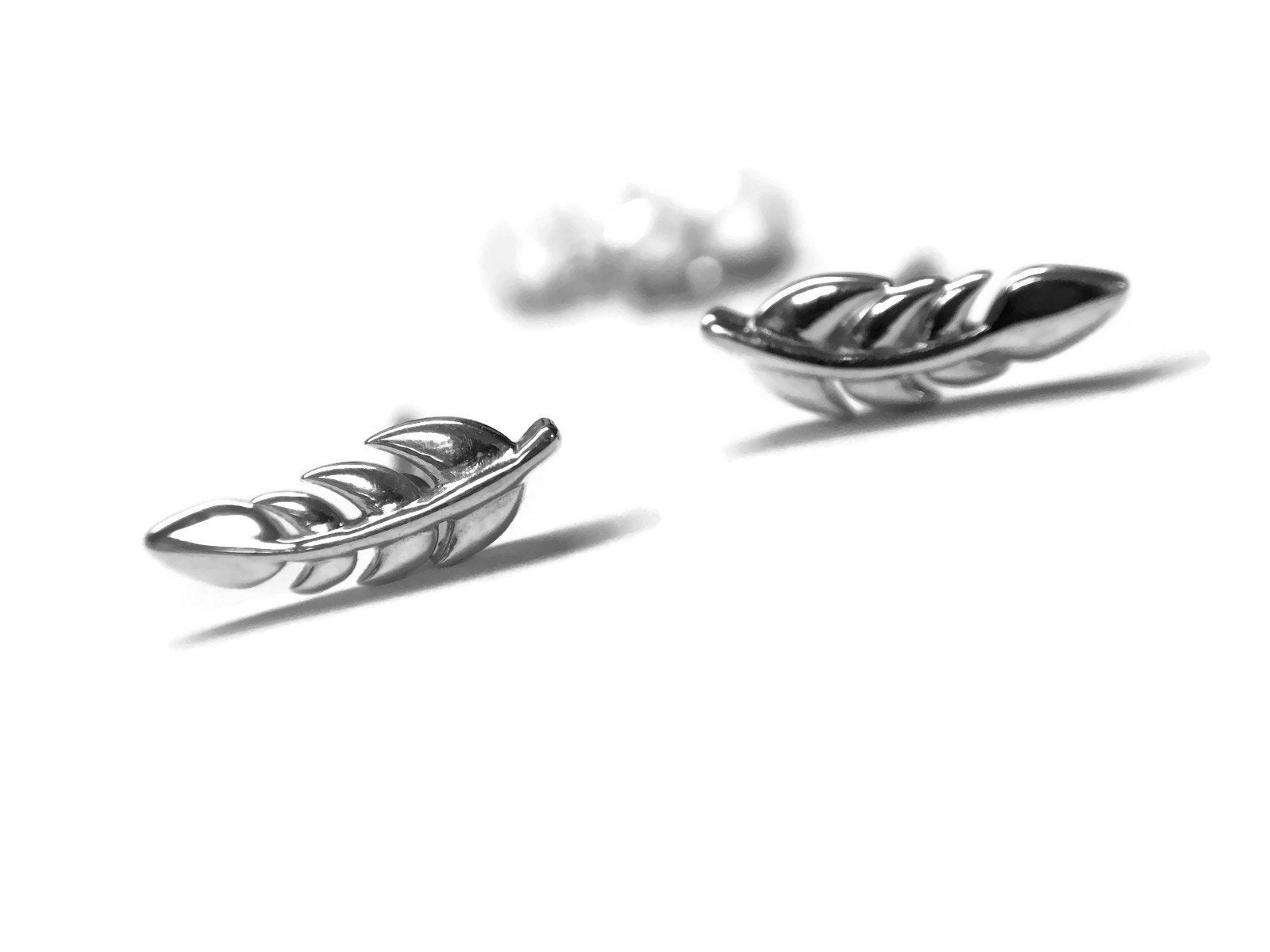 Feather or Leaf Earrings