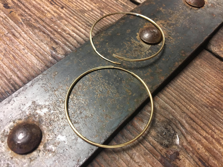 Gold 1.8 Inch Hoop Earring