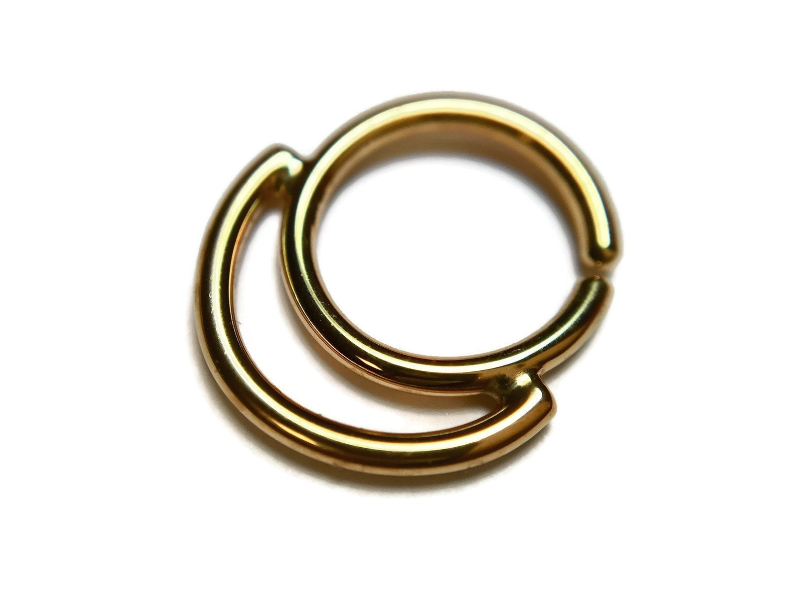 Gold Double Tiered Layered Septum Ring