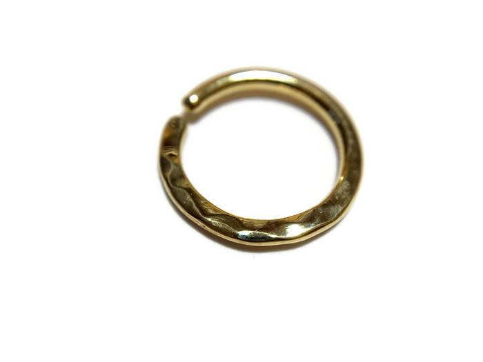 Gold Hammer Texture Septum Ring