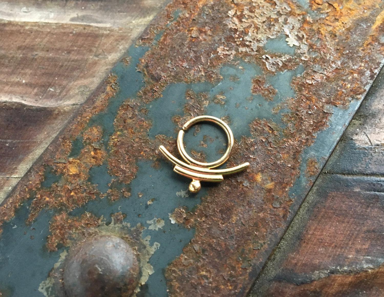 Gold Tribal Septum Ring