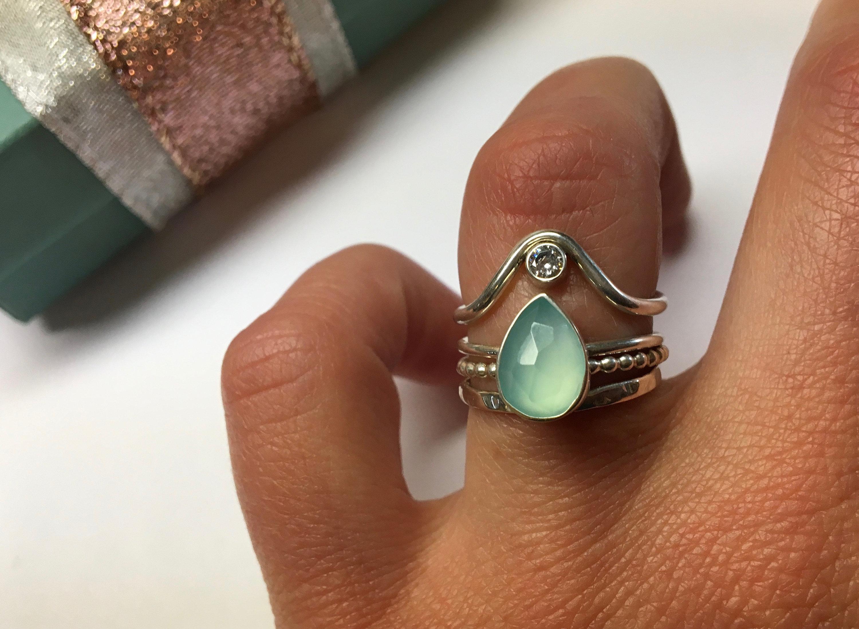 Light Aqua Blue Quartz Ring