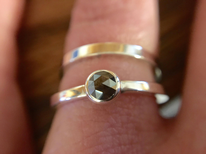 Natural Mahogany Colored Diamond Ring