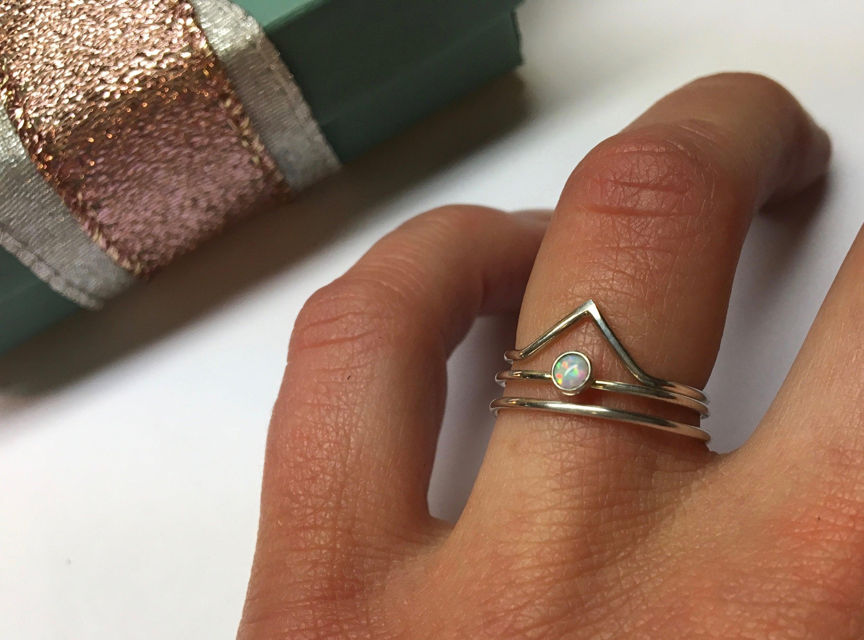 Opal Ring Ultra Dainty