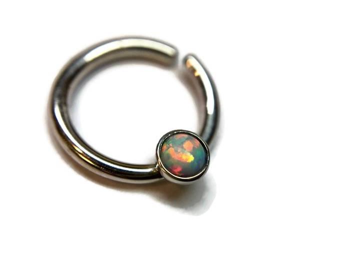 Opal Septum Ring