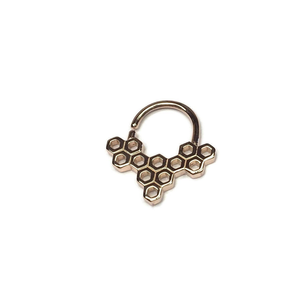Pink Honeycomb Septum or Daith Ring
