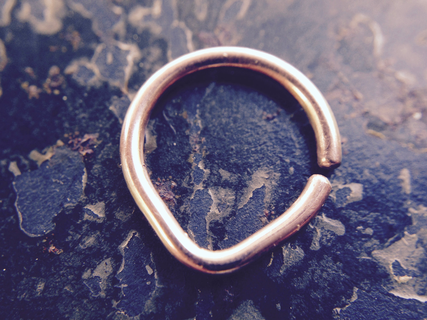 Rose Gold Chevron Septum Ring – Triangle Hoop – Septum – Nostril – Helix – Daith – Tragus – Conch – Rook