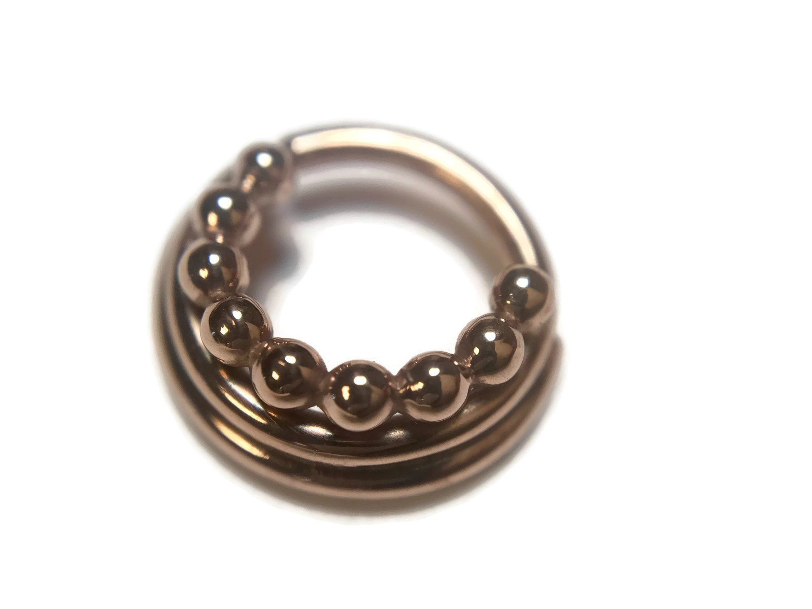 Rose Gold Triple Layered Septum Ring
