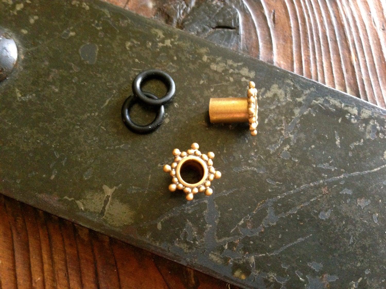 Satin Gold Plugs
