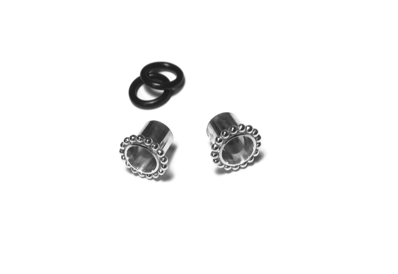 Simple Beaded Gauged Earrings