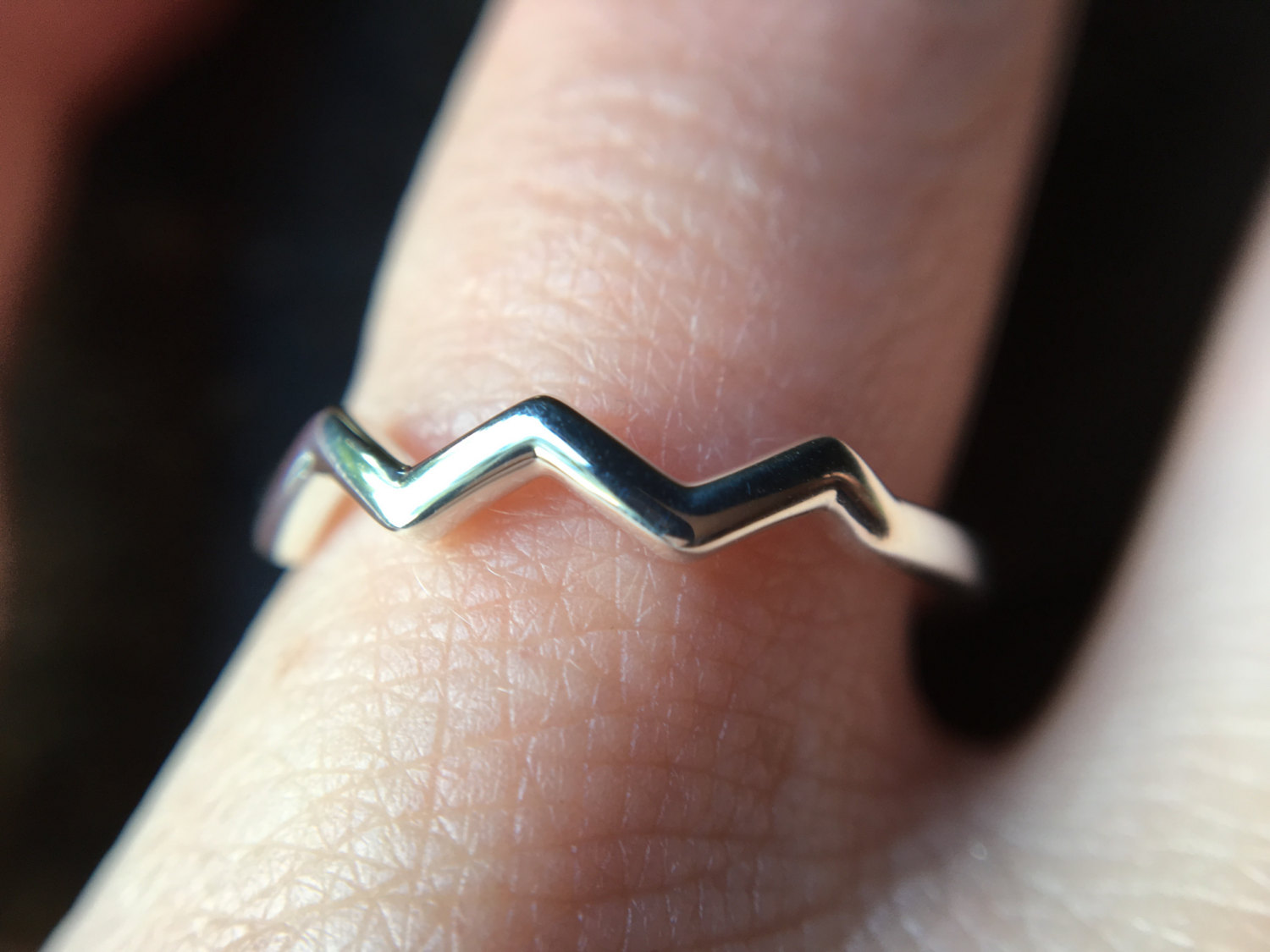 Simple Sweet Mountain Stacking Accent Ring