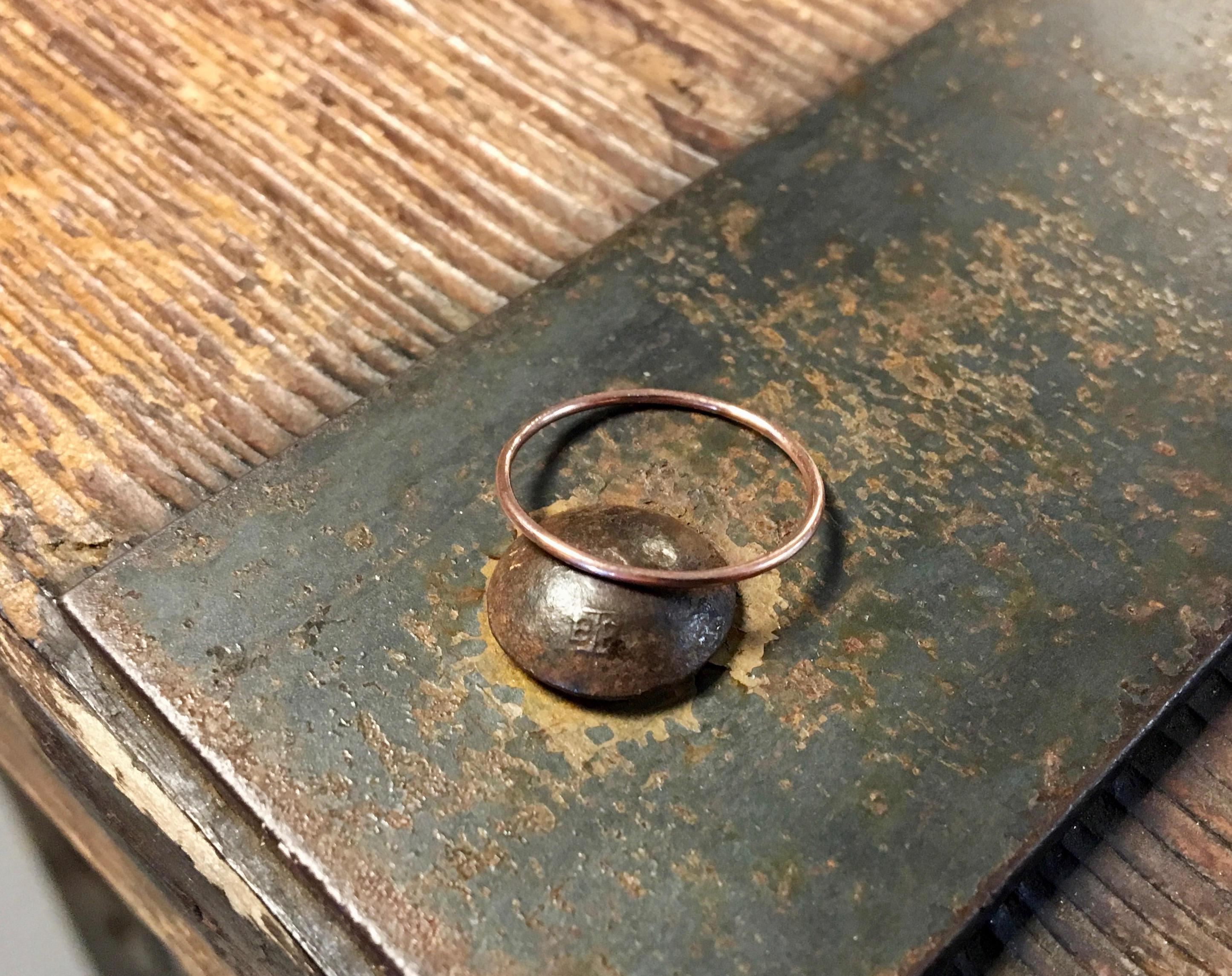 Skinny Rose Gold Ring Solid 14 Karat