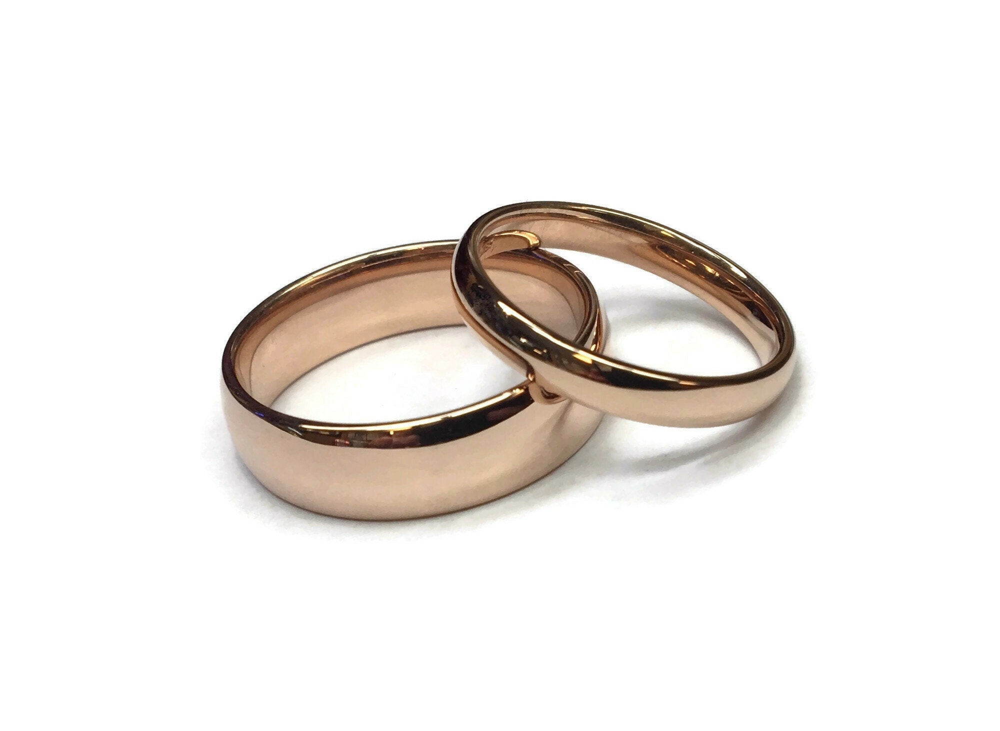 Classic Rose Gold Wedding Bands