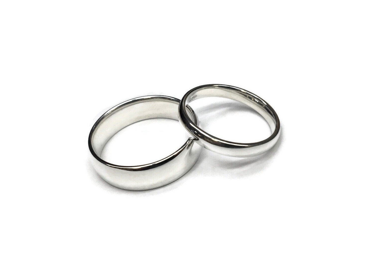 Classic Silver Wedding Bands