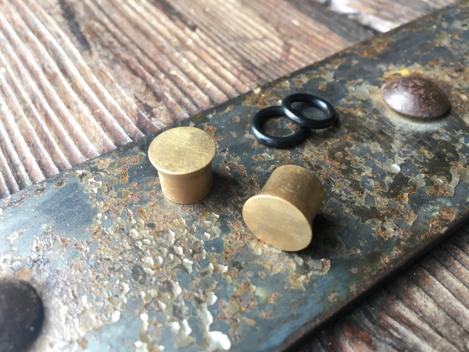 14K Capped Gold Plugs